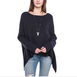 French Connection Ribbed Open Back Sweater